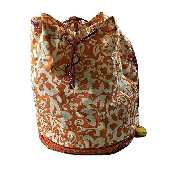 Gap Handbags - Gap Backpack Orange & White School Bucket Bag